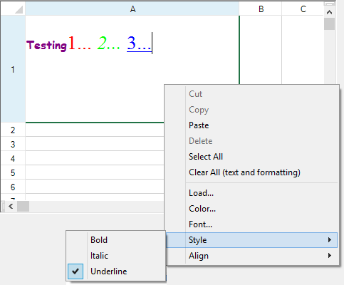 Setting a Rich Text Cell
